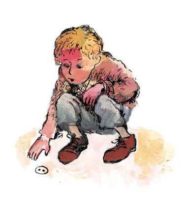 мальчик нашел железную пуговицу