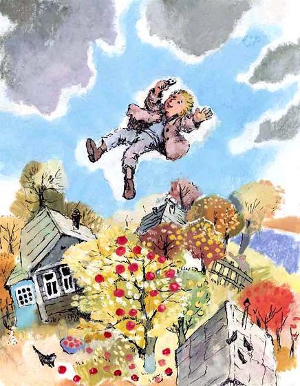 мальчик с железной пуговицей взлетел в небо
