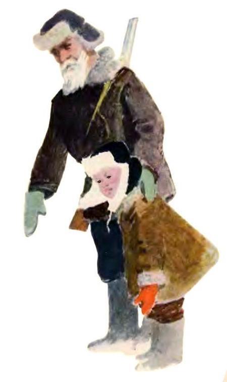 дедушка охотник и внук