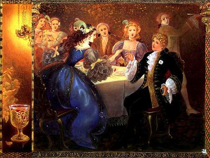 Золушка за столом с принцем сестры не узнали
